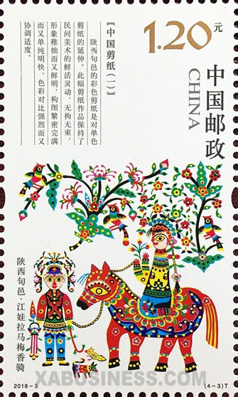 Jiangwa Leads Meixiang on Their Horse - Xunyi, Shaanxi