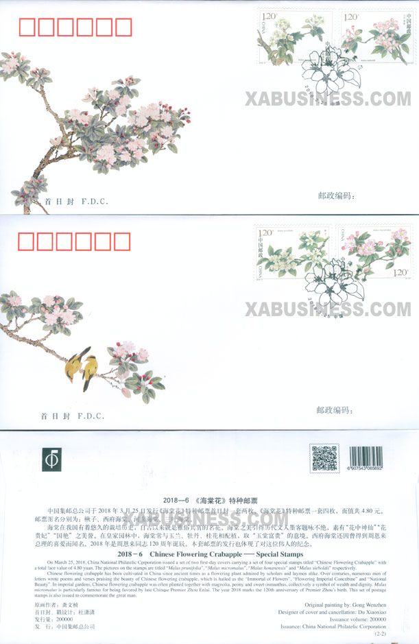 Chinese Flowering Crabapple - FDC