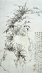 Orchid and Rocks, Chinese painting, Zhen Xie