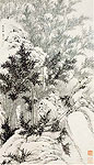 Bamboos, Chinese painting