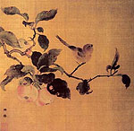 Bird and Fruits , Chinese painting