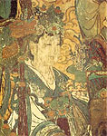Jade Lady Presenting Treasure, mural, Chinese painting
