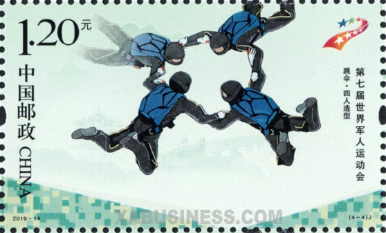 Four-people Formation Skydiving - Parachuting